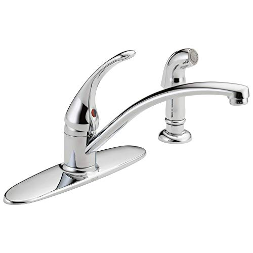 DELTA Foundations Single-Handle Kitchen Sink Faucet, Chrome B4410LF