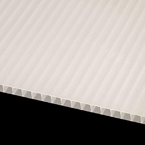 IRONLUX Policarbonato Placa | Panel Policarbonato Celular Compacto, Color Blanco 6 mm, 1195 x 595 mm
