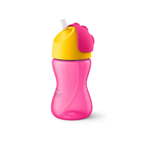 Philips Avent Strohhalmbecher SCF798/02, 300 ml, 12m+, pink/orange