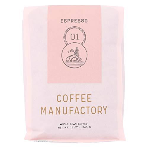 Coffee Manufactory, Coffee 01 Espresso Blend Colombia Peru Ecuador Whole Bean, 12 Ounce