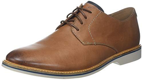 Clarks Herren Atticus Lace Derbys, Braun (Tan Leather), 44 EU