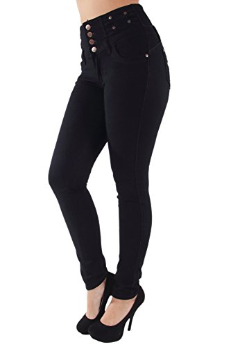 Plus Size, Butt Lift, Levanta Cola, High Waist, Stretch Skinny Jeans in Black Size 14