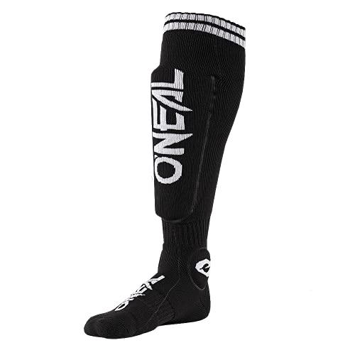 O'NEAL | Motocross-Socken | Motocross Enduro | Feuchtigkeitsableitende Materialien, Dickes Strickgewebe an Ferse & Sohle, Integrierte Taschen | MTB Protector Sock | Erwachsene | Schwarz | One Size