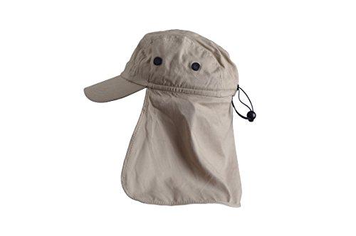 Basic Nature Basic Nature Legionärskappe mit Nackenschutz - Baseballkappe schützt Nacken und Ohren vor Sonne