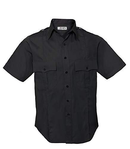 Rothco Short Sleeve Uniform Shirt for Law Enforcement & Security Professionals, Midnight Navy Blue, L