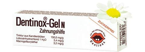Dentinox-Gel N Zahnungshilfe Zur Linderung der Beschwerden beim Durchbruch der ersten Zähnchen.Spar-Set 2x10g.