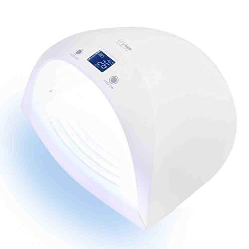 Lampes UV Sèche à ongles Lithium automatique de chargement électronique Indolore Lampe à ongles LCD Double source de lumière Machine de photothérapie à induction 110 / 220v