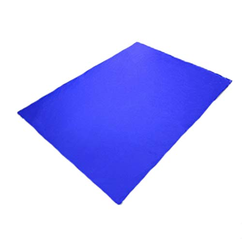Alfombra de Playa,Estera de Playa Estera Impermeable Estera a Prueba de Humedad Estera de Picnic de celosía de poliéster de PU al Aire Libre Royal Blue 1.4m*1.5m