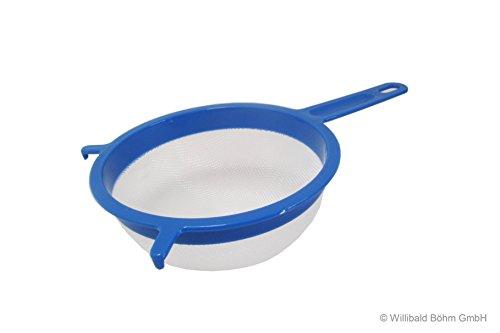 Passiersieb mit Halterung Ø 18 cm pastell-blau aus Kunststoff, Sieb, Küchensieb, Seiher, Brüher