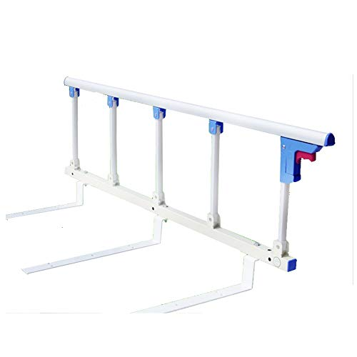 LYFHL Foldable Bed Rail Safety Side Guard for Elderly, Adults Assist Handle Handicap Bed Railing Hospital Metal Grip Bumper Bar