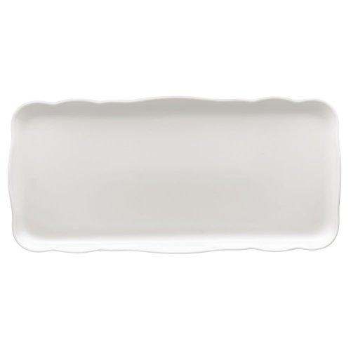 Hutschenreuther 02013-800001-12844 Plat à Cake Rectangulaire, Porcelaine, Blanc, 40,3 x 18,8 x 3,8 cm