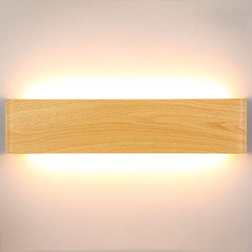 Lightess 18W 40CM Apliques de Pared LED Interior Lámpara de Pared Moderna Agradable Luz de Aluminio Iluminación para Salón, Dormitorio, Sala, Pasillo, Escalera, Blanco Cálido 2800K ⭐