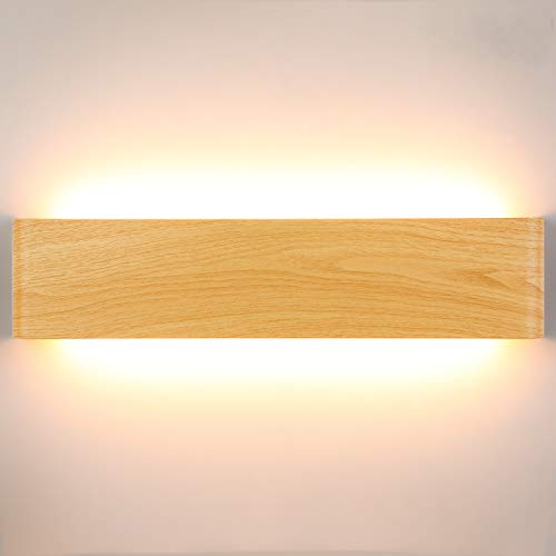 Lightess 18W 40CM Apliques de Pared LED Interior Lámpara de Pared Moderna Agradable Luz de Aluminio Iluminación para Salón, Dormitorio, Sala, Pasillo, Escalera, Blanco Cálido 2800K