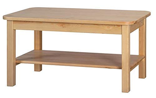 Magnetic Mobel Couchtisch Beistelltisch Tisch Kiefer massiv Holz 80 x 50 x 55 cm (LxBxH) (Lackiert Kiefer)