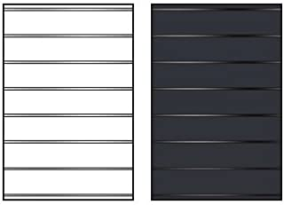 Replacement Message Board Face with Tracks for The Swinger Sign Stands, FaceColor=Black