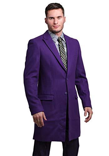 FUN Suits The Joker Suit Overcoat (Authentic) 44 Purple