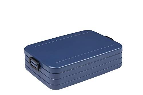 Mepal Take a Break Large – Nordic Denim – 1500 ml Inhalt – Lunchbox mit Trennwand – perfekt für Mealprep – spülmaschinenfest, ABS