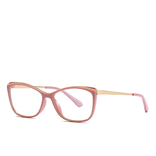 Tr90 Cat Eye Computer Anti Blue Light Bloqueo de gafas para mujer Rosa