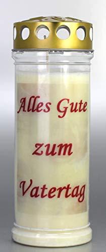 Kerzen Junglas Grablicht, Grabkerze mit Spruch Vatertag, Größe 21x7,5 cm - Brenndauer ca. 7 Tage – Elegante Gedenkkerze, Trauerkerze mit Spruch. (3931)