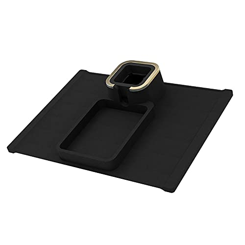 Akin Sofa Arm Tray Silicone Cup Holder Tray -30°C~230°C Silicone Sofa Armrest Coaster for Arm Chair Couch Caddy Sofa Recliner Anti-Slip Armrest Tray for Remote Control and Cellphone