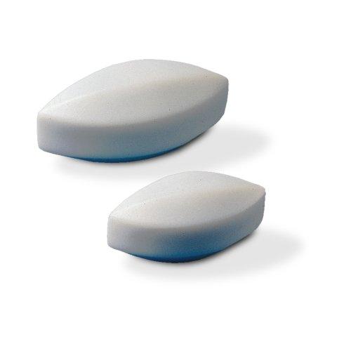 Bel-Art Spinbar Teflon Elliptical (Egg-Shaped) Magnetic Stirring Bar; 41.3 x 19mm, White (F37130-0158)