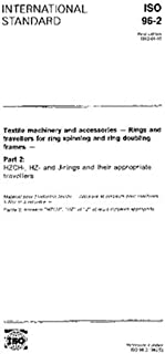 ISO 96-2:1992, Textile machinery and accessories -- Rings and travellers for ring spinning and ring doubling frames -- Part 2: HZCH-, HZ- and J-rings and their appropriate travellers