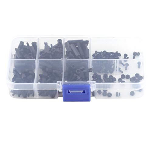 Tuercas de tornillo surtidas, kit de tuercas surtidas separador de espaciadores, 250 espaciadores de nailon para equipos de(M2 Single Pass-C)