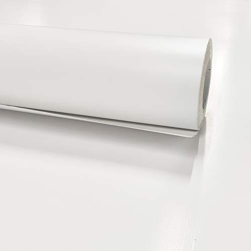 E EVENTUAL - Vinilo Decorativo Adhesivo Mate – Vinilo Pegatina para Forrado de Muebles Puertas y Cristales – Lamina Adhesiva para Vinilado de Superficies Planas (80x300cm, Blanco)