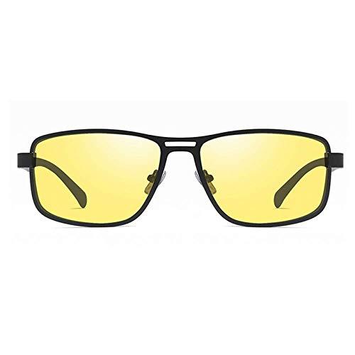 HMHYL Herren-Sonnenbrille, Retro-Stil, quadratisch, Nachtsichtbrille, polarisiert