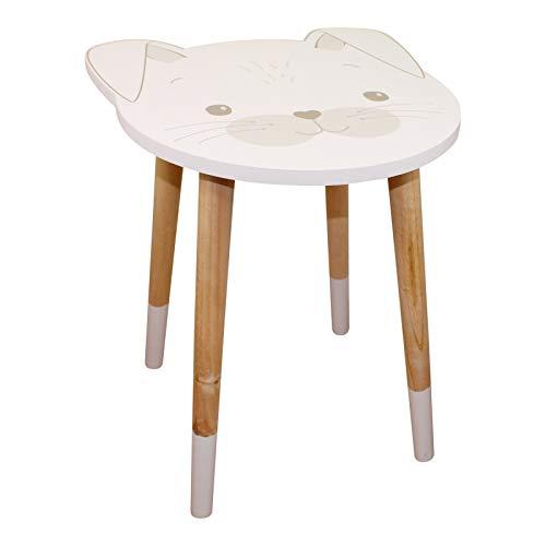 EliteKoopers 1 mesa auxiliar de madera con diseño de conejo para niños, accesorios de regalo de estudio