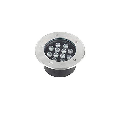 WXL LED Bodeneinbaustrahler, wasserdichte IP67-Bodenlichtweglichter Im Freien LED-Scheinwerfer des Parkrasens, 220V-Bodenscheinwerfer (Color : 12W, Size : White Light)