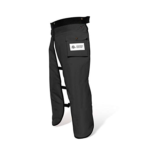 Chainsaw Chaps Apron Wrap 8-layer for Men/Women Loggers Forest Workers Protective Chain Saw Pants Adjustable Safety Chap Class B with Pocket(Black, 36 to 38-Inch)