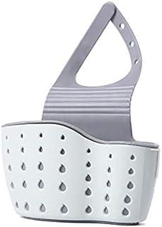 Sink Hanging Basket,Multifunctional Hanging Shelf Sponge Holder with Adjustable Strap,Soap Sponge Drain Rack,Kitchen Sink ...