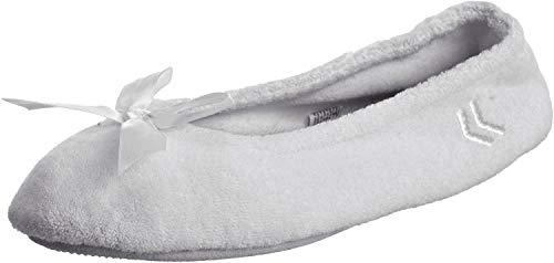 ISOTONER - Chaussons Ballerines pour femme en tissu éponge classique - gris - gris,