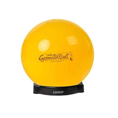 PEZZI Original Pezziball Standard 42 cm m. Ballschale Kombi Gymnastikball gelb