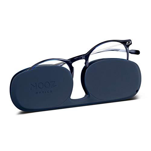 Nooz Optics - Occhiali Luce Blu senza correzione Uomo e donna per Computer, Smartphone, Gaming o Televisione - Forma Rotonda - Colore Blu - Collezione Cruz