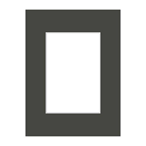 Premium Passepartout Anthrazit - alle Standard Größen - 1,4mm stark - Museumsqualität (Außen: 30x40 / Bildmaß: 20x30)