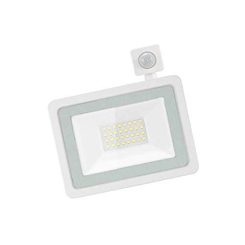 Luces de Seguridad Sensor de Movimiento para Exteriores, reflectores LED PIR de 20W 2000LM, IP66 Impermeable 6000K Proyector LED Blanco frío súper Brillante para Patio, jardín, Garaje
