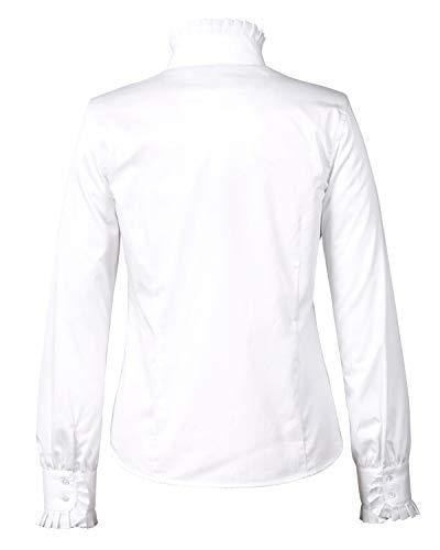Reitmayer Bluse mit Rüschenkragen Weiß 36