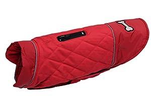 Manteau d'hiver Confortable pour Chien - Chaud - Réversible - en Coton - avec Trou pour Harnais - pour Chiens de Petite, Moyenne et Grande Taille