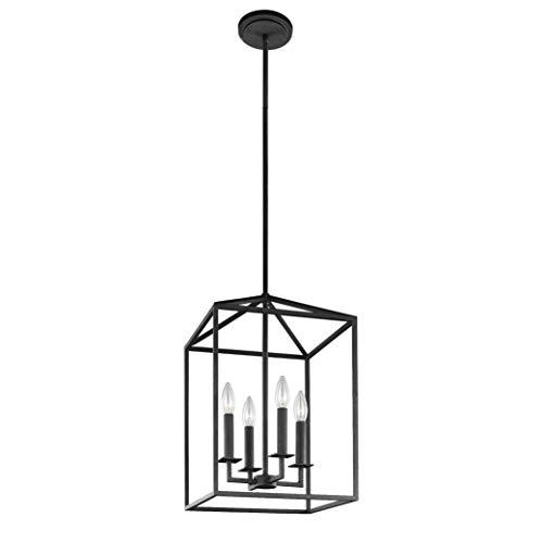 Sea Gull Lighting 5215004-839 Perryton Small Four-Light Hall / Foyer Hanging Modern Light Fixture, Blacksmith Finish