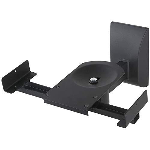 TradeMount Soporte de Pared para Altavoz 2 Unidades Aluminio Negro reclinable 15°...