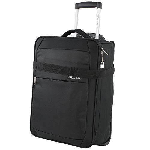Eurotravel Koffer faltbar 50cm Bordgepäck schwarz