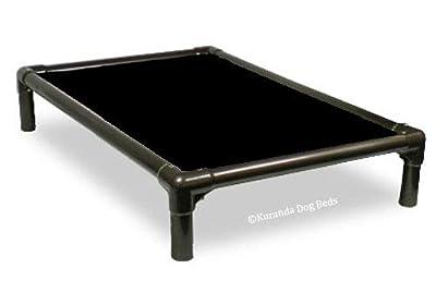 Kuranda Walnut PVC Chewproof Dog Bed - XL (44x27) - 40 oz. Vinyl - Black