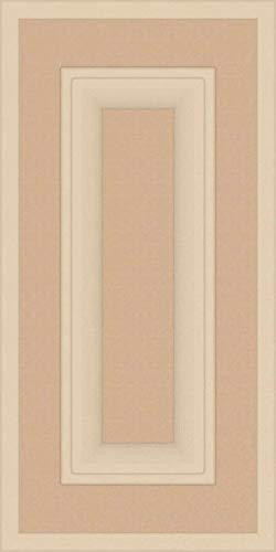 Kendor Unfinished MDF Cabinet Door, Square with Raised Panel, 18H x 9W