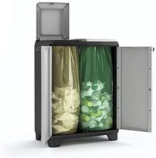 Keter Split Premium Cubo, Negro/Gris, 68 x 39 x 92 cm