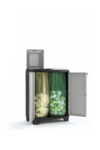 KETER 9735000 Split Cabinet Recycling Premium, grau