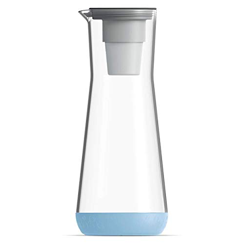 Hydros 5-Cup Water Filter Carafe Powered by Fast Flo Tech | 40 Seconds Quick Filling Filter 40 OZ Carafe, BPA Free, Pale Blue