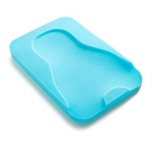 Summer Comfy Bath Sponge (Aqua) – Contoured Foam Cushion Supports Baby's Head, Neck, and Back