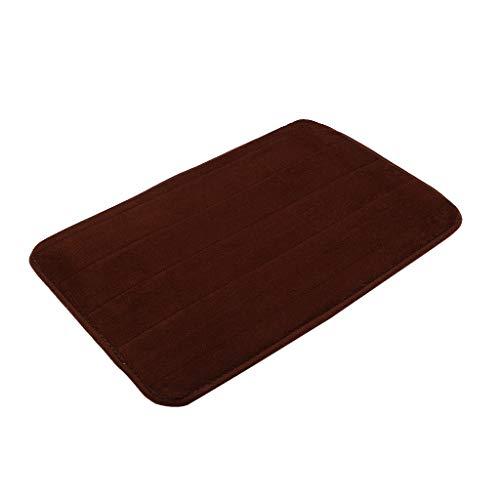 Scrolor Teppichboden Teppiche Area Rugs Memory Foam Carpet Bad Schlafzimmer Boden rutschfeste Dusche Teppiche Fußmatte(Kaffee,40x60cm)